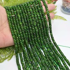 Natural Semi Precious Stone Chrome Diopside Loose Roundel Beads 6x3mm