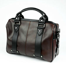 Men's Vintage Brown Leather Handbag Messenger Bag Shoulder Laptop Bag Briefcase