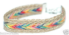MULTI COLORED BRAIDED HEMP FRIENDSHIP BRACELET (B013)