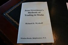 Jesse Livermore stock trading book Investing by Richard Wyckoff course