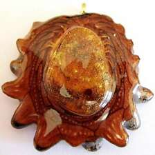 "Third Eye Pinecones - 2"" Amber Pendant - Handcrafted from the Knobcone Pinecone"