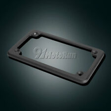 "4""x7"" Black License Plate Tag Frame Fastener For Motorcycle Scooter Chopper Bike"