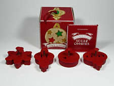 Williams-Sonoma Stained Glass Cookie Cutters Set of Four Christmas Ornaments