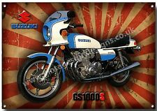 SUZUKI CLASSIC GS1000S METAL SIGN,1970'S JAPANESE MOTORCYCLES,FOUR STROKE,(A3)