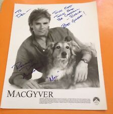 1987 MACGYVER RICHARD DEAN ANDERSON Autographed 8x10 Glossy Photo Original  Auto