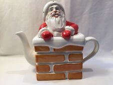 Carlton Ware Teapot Santa Father Christmas Stuck In The Chimney Pot (ref P119)