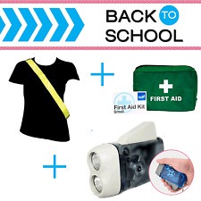 Back to School - Stay Safe Safety Kit - Hi Vis Sash, First Aid Kit, Torch