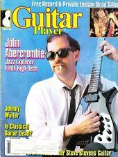 Guitar Player Magazine November 1986 John Abercrombie Steve Stevens, FREE Record