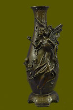 Fairy Angel Bronze Vase Figural Sculpture by Milo Hot Cast Home Decoration Art