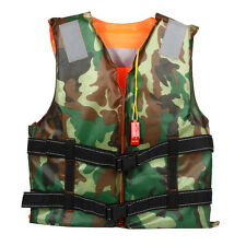 Universal  Adult Life Jacket Camouflage Sided Wear Vest For Boating Skiing