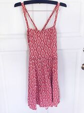 Abercrombie Women's Mary Red White Skater Dress Size XS