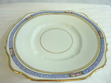 ANTIQUE PINDER BOURNE DIAMOND CHINA LARGE SERVING PLATE, EXCELLENT          (CP)