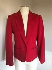 Pendleton Vintage Red Tweed Blazer Jacket 8 PERFECT CONDITION! Holiday Christmas