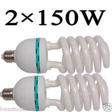 HWASTUDIO ® 2pcs 150W PhotoStudio Continuous Lights Photography Lamp Bulbs E27