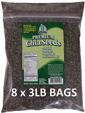 24 POUNDS Premium Black Chia Seed Get Raw Seeds Gluten-Free No GMO Grown Organic