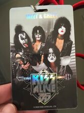 KISS ALIVE 35 TOUR SIGNED BACKSTAGE PASS - Eric Singer Meet Greet VIP Autograph