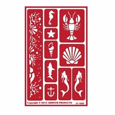 Armour Reusable Over n Over Glass Etching Stencil - ONO Under the Sea
