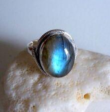 Ring mit Labradorit, 925er Silber, Gr.18,1