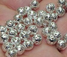 500pcs Silver-plated Filigree Hollow Metal ball Beads Spacer beads 4mm DF395