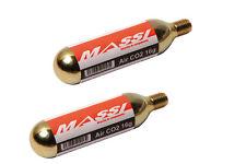 MASSI 2x Cartouches d'air comprimé pour pompe CO2 16g