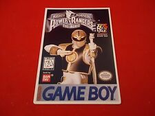Mighty Morphin Power Rangers Movie Game Boy Vidpro Promotional Display Card ONLY