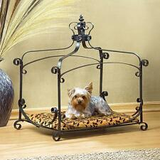 ROYAL SPLENDOR PET BED PAD ANIMALS FURNITURE DOG CAT WROUGHT IRON FRAME VELVET