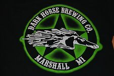 Dark Horse Company Marshall MI Logo T Shirt Adult Small Craft Beer Nation Nice