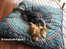"35"" Mandala Large Floor Pillow Case Washable Square Pet Dog Bed Cushion Cover"