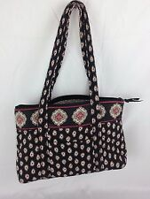 VERA BRADLEY RED BLUE WHITE FLORAL PURSE HANDBAG SHOULDER BAG