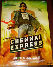"CHENNAI EXPRESS  DOUBLE SIDED DS POSTER # 2  BOLLYWOOD SHAHRUKH KHAN 27 ""X 39"""