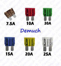New 30 Piece Car Automotive Fuses Blades Mixed Fuse Set 7.5 10 15 20 25 30 Amp ✔