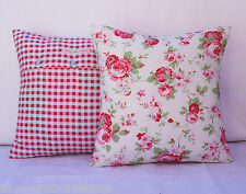 "Cushion cover,Cath Kidston Rosali pillow,Heart cushion,Applique cushion,14""x14"""