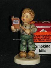 """Goebel Hummel 2168 """"Man nehme"""", Junge mit Buch beim Backen, Backbuch"""