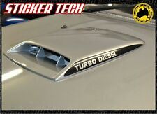 TURBO DIESEL BONNET SCOOP STICKER DECAL TO SUIT NISSAN GU PATROL 4X4 4WD 99 - 07
