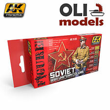 Figure Series SOVIET WWII UNIFORM COLORS Paint Set 6x17ml - AK Interactive 3120