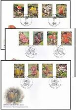 TAIWAN 2010 Sp.542 Sp.568 Sp.593 Wild Mushroom FULL SET 野生菇 stamps FDC (3 FDC)