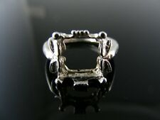2707  RING SETTING STERLING SILVER, SIZE 5, 8X8 MM SQUARE STONE