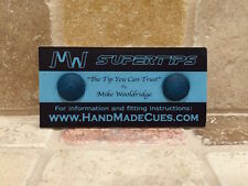 MIKE WOOLDRIDGE SUPER CUE TIPS (2016 VERSION) PACK OF FOUR 10 mm
