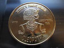 cleopatra egyptian queen of nile naiads 1976 Mardi Gras Doubloon Token Coin
