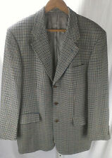 HUGO BOSS POSEIDON Houndstooth Wool Sport Coat Blazer Jacket Size 42R 3 Button