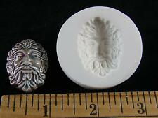 Green Man Face Surrounded with Leaves Polymer Clay Mold (#MD1397)