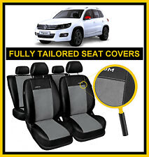 VOLKSWAGEN TIGUAN 2007 - 2015  FULLY TAILORED SEAT COVERS  full set LEATHERETTE