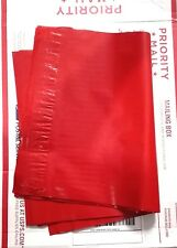 50 Poly Mailers Envelope Shipping Supply Shipping Bags 9x12 Red Color
