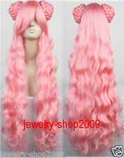 New wig Cosplay Code Geass Euphemia Pink Curly Heat Resistant Long Wig