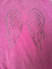 Victoria's Secret Sz S Supermodel Essentials Zip Up Hoodie Angel Wings Purple