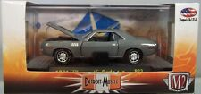 M2MACHINES 1:64 SCALE DIECAST METAL GRAY 1971 PLYMOUTH 340 CUDA