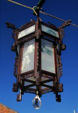 Vintage Chinese Lantern Chandelier Pendant Hand Carved Painted Ceiling Lamp