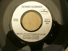 DONNA SUMMER MELODY OF LOVE / ON THE RADIO mercury jukebox 418 promo