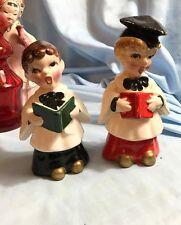 Vintage 1950's Choir Boy Carolers Porcelain Figurines Kreiss Japan