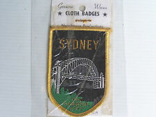 VINTAGE SYDNEY HARBOUR CITY EMBROIDERED SOUVENIR PATCH WOVEN CLOTH SEW-ON BADGE